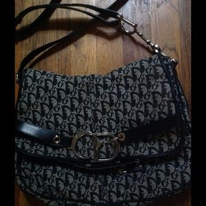Trendy Black Logo Dior Cross body Messenger Bag